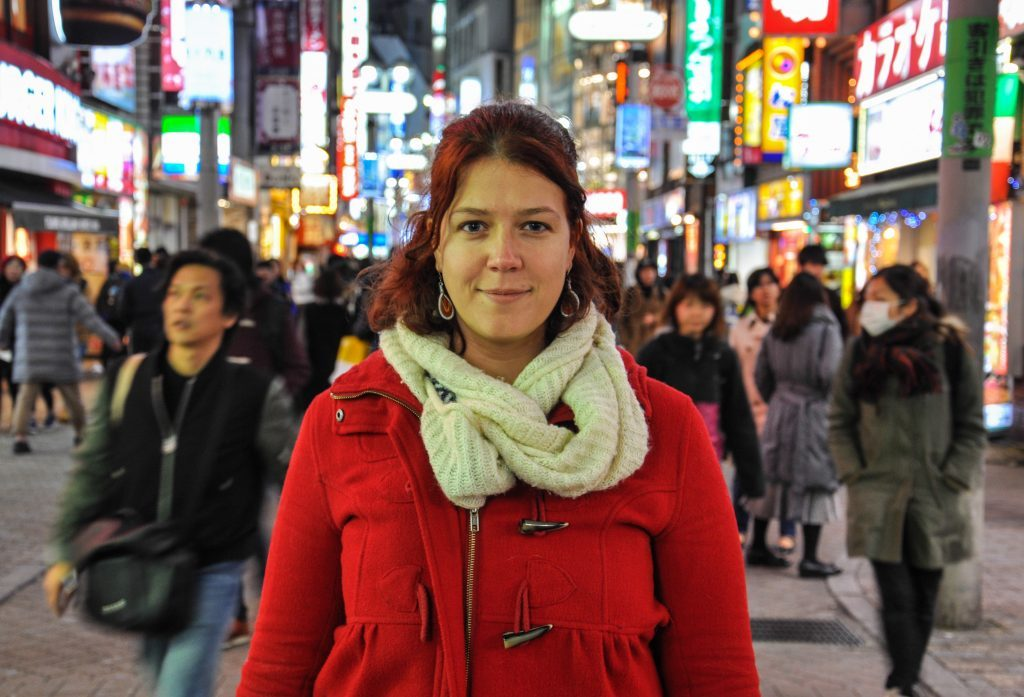 Lucie du blog Voyages et Vagabondages ay Japon
