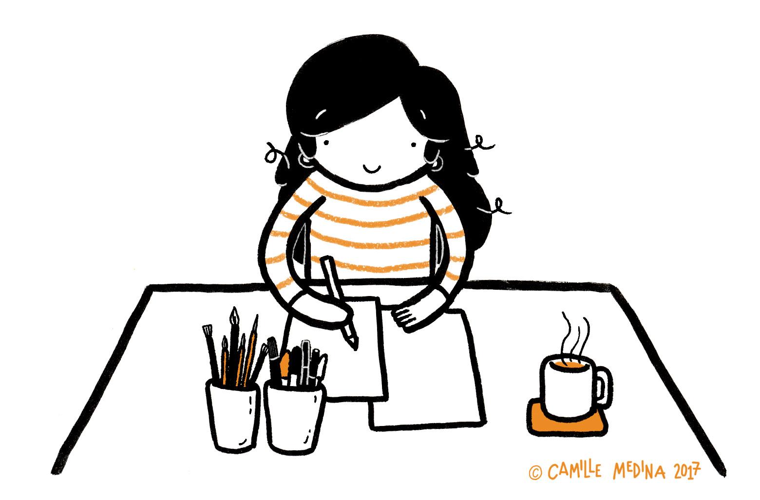Camille Medina illustratrice expat